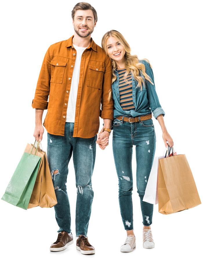 Einkaufen Paar